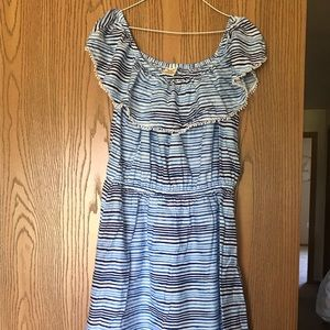 Faded Glory Blue and White Striped Dress